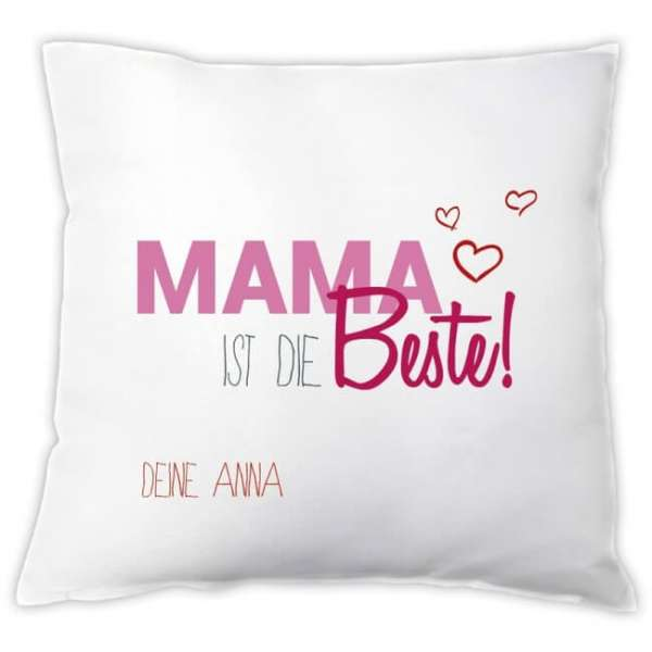 Personalisierbares Kissen Mama ist die Beste