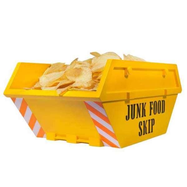 Schüssel Junk Food Skip in gelb