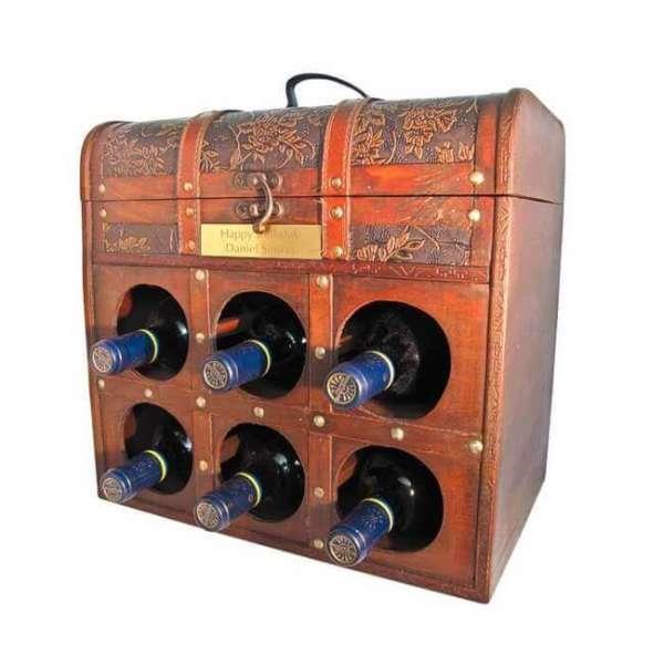Personalisierbare Weintruhe Spanischer Rotwein