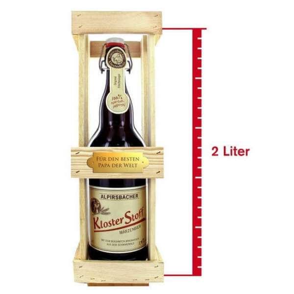 Personalisierbares Magnum Bier - Kloster Stoff in einer 2 Liter Flasche