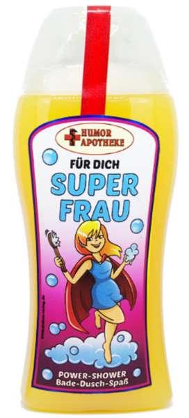 Duschgel Super Frau in gelb