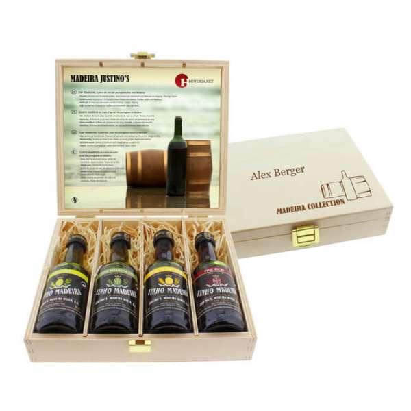 Wein Degustations-Set Madeira mit Personalisierte Geschenkbox