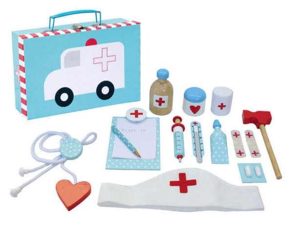 Spielkoffer Arzt  mit diversen Arzt Utensilien
