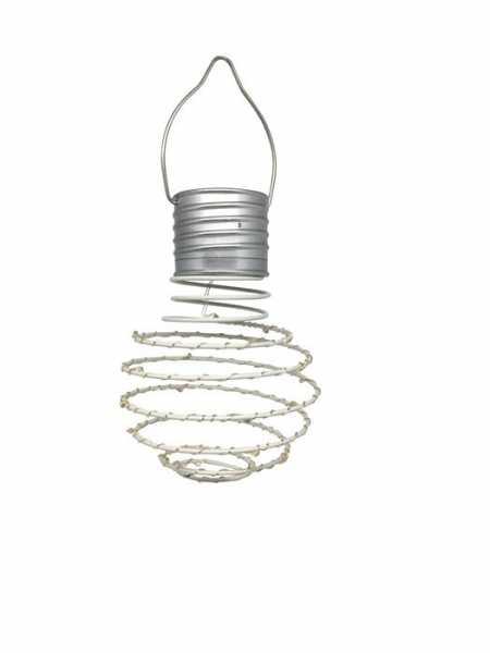 LED Solar Hängelampe Weiss ohne Farben