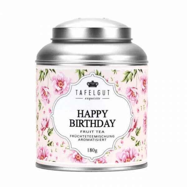 Tee Happy Birthday in einer Aludose