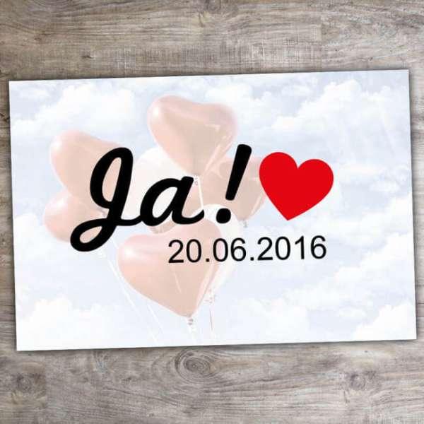 Personalisierbare Fussmatte Ja mit Hochzeitsdatum
