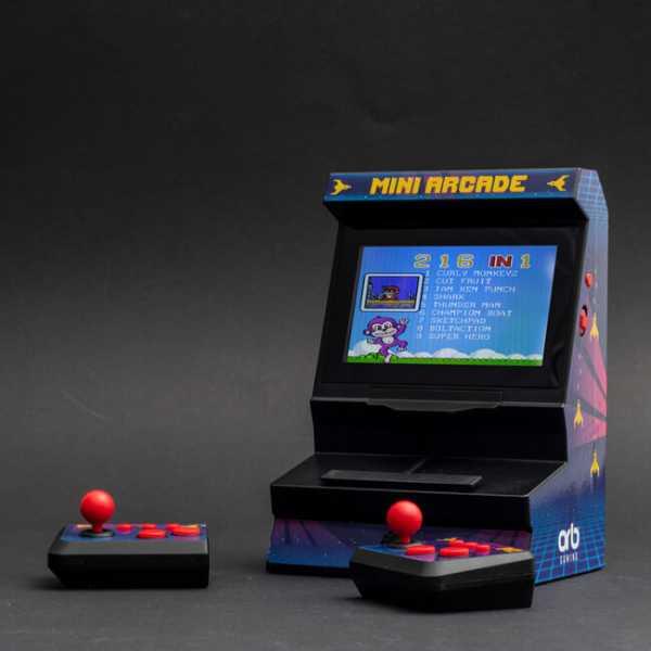 Retro Mini Arcade Machine mit Dual-Controller für viel Action allein oder zu zweit