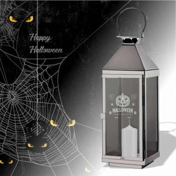 Halloween Laterne Süsses oder Saures mit Kerze