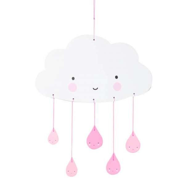 Mobile Wolke in rosa