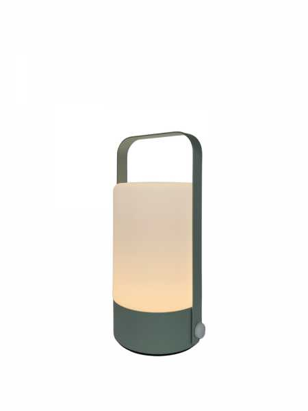 LED Lampe Metall Türkis Seitenansicht