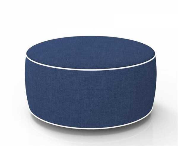 Aufblasbarer Sitzhocker dunkelblau