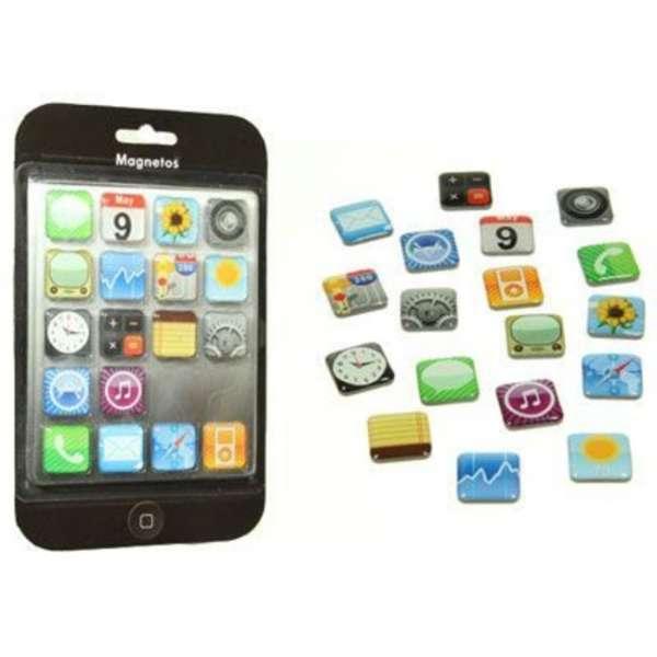 Iphone Apps Kühlscheank Magnet Set