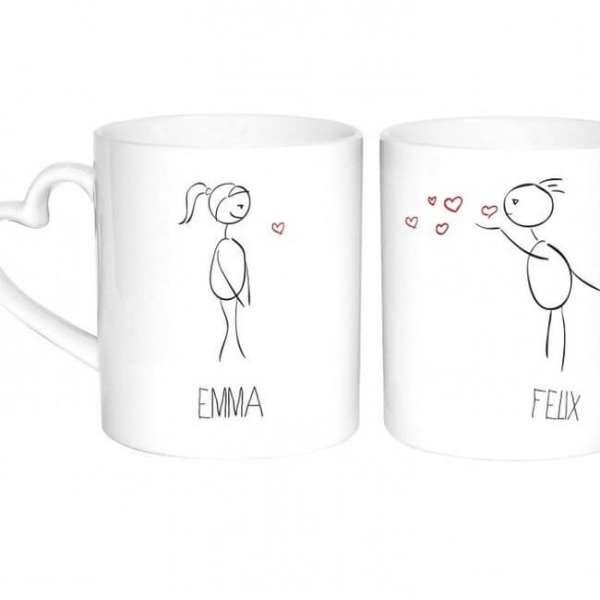 Personalisierbare Tassen Pärchen mit Namen