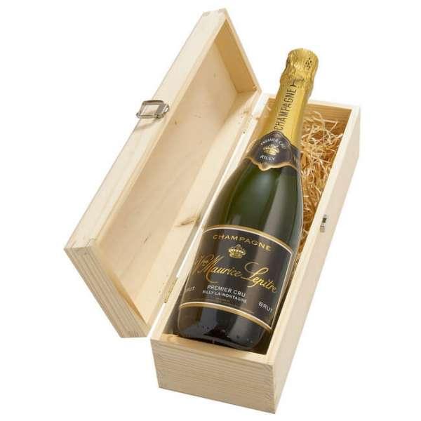 Champagner Flasche Lepitre Premier Cru in der Holzverpackung