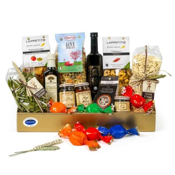 Geschenkbox Rosa Italienische Spezialitäten