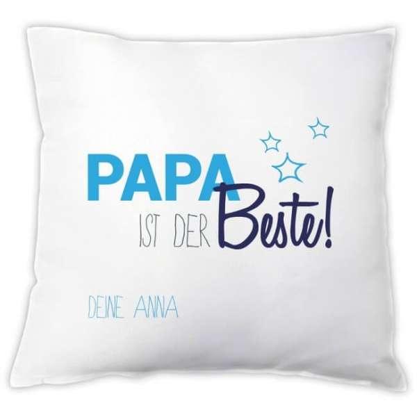 Personalisierbares Kissen Papa ist der Beste