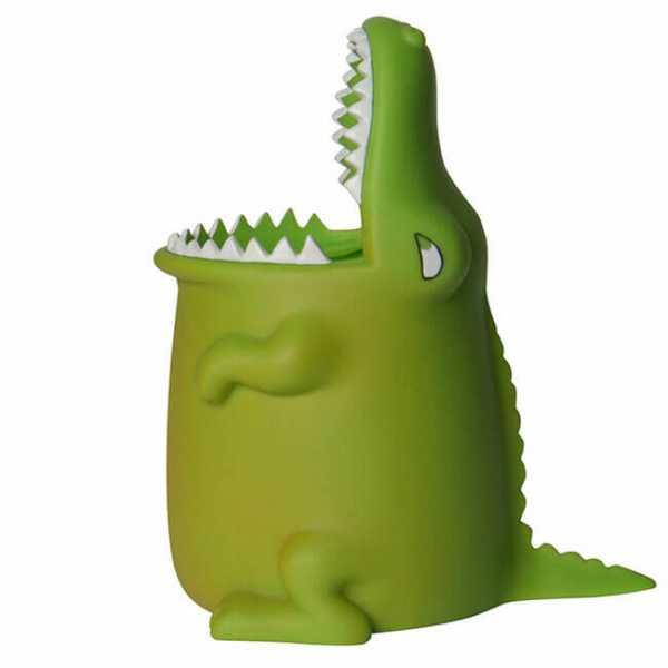 Zahnputzbecher Kroko mit offenen Maul