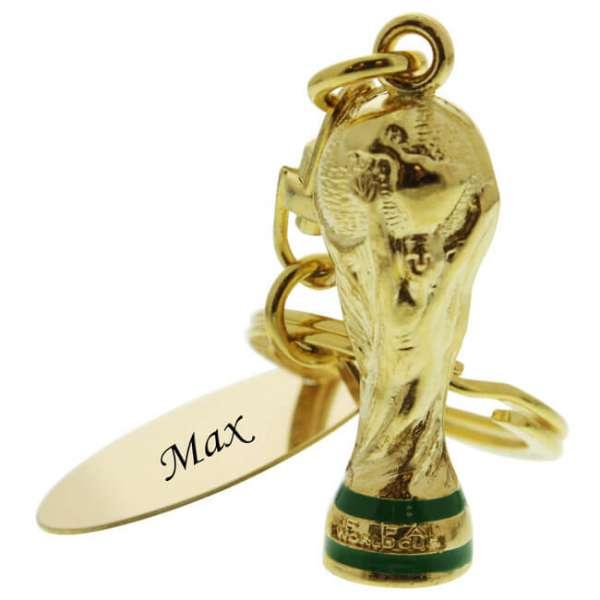 Personalisierbarer Fifa Weltmeister Pokal Schlüsselanhänger