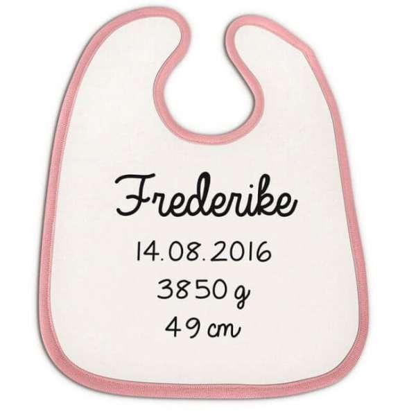 Personalisierbares Baby Lätzchen rosa