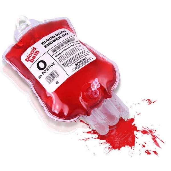 Blut Duschgel im Blutspendebeutel