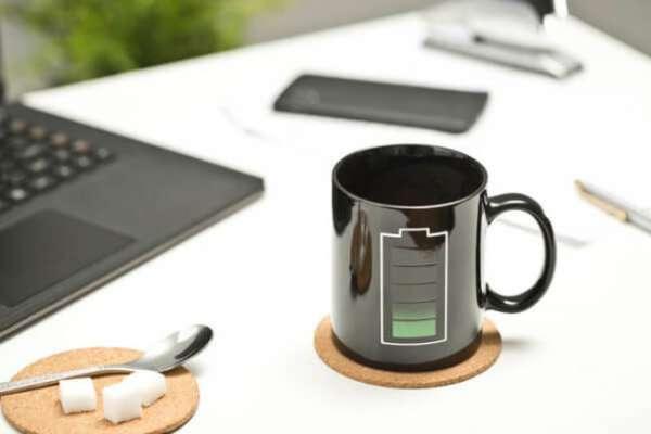 Kaffeetasse Batterie mit Ladeanzeige