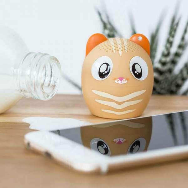 Bluetooth Lautsprecher Katze mit Iphone