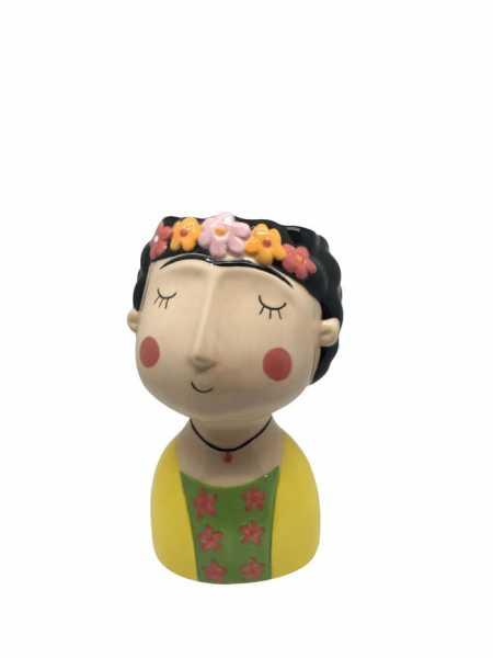 Blumentopf Kopf aus Porzellan