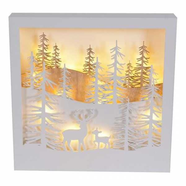 LED Dekoaufsteller Winterlandschaft