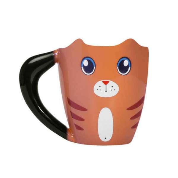 Tasse Katze in braun