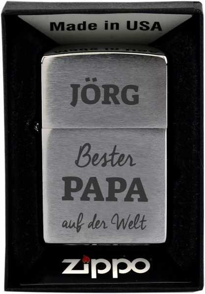 Personalisierbares Zippo Bester Papa in der Schachtel