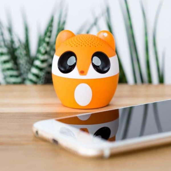 Bluetooth Lautsprecher Fuchs mit Smartphone