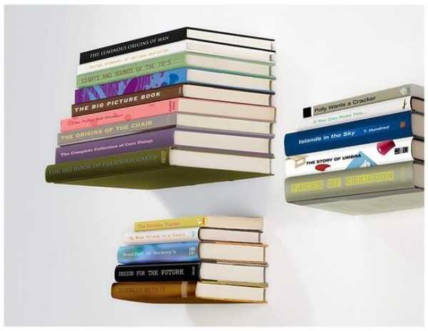 Die Mysteriöse Bücherregale heben bis zu 12 Kg Bücher an der Wand
