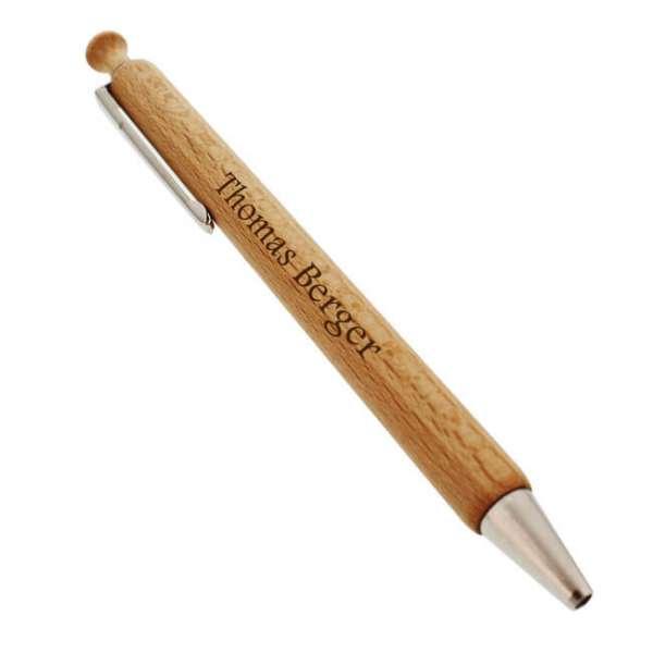 Personalisierter Kugelschreiber aus Holz