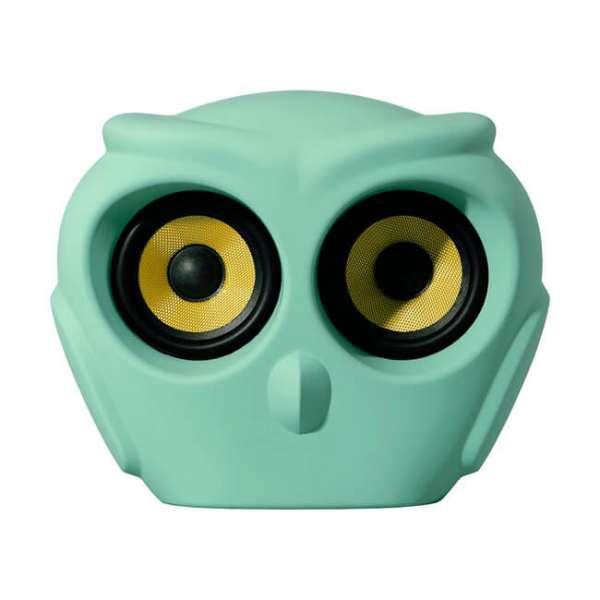 Bluetooth Lautsprecher a owl in grün