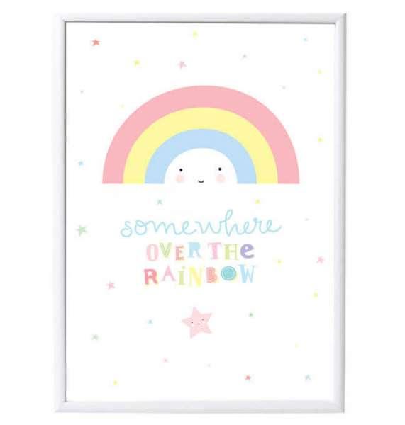Poster Regenbogen im Rahmen