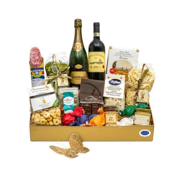 Geschenkkorb Gladiola mit 13 kulinarische Köstlichkeiten aus Italien
