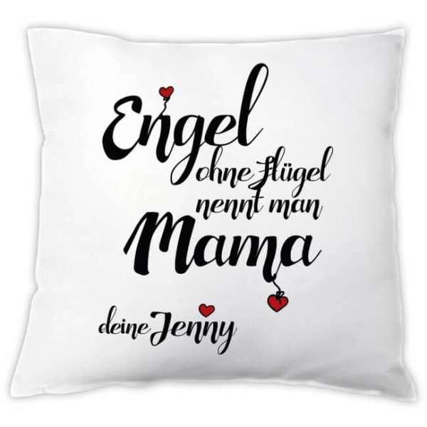 Personalisierbares Kissen Engel ohne Flügel nennt man Mama