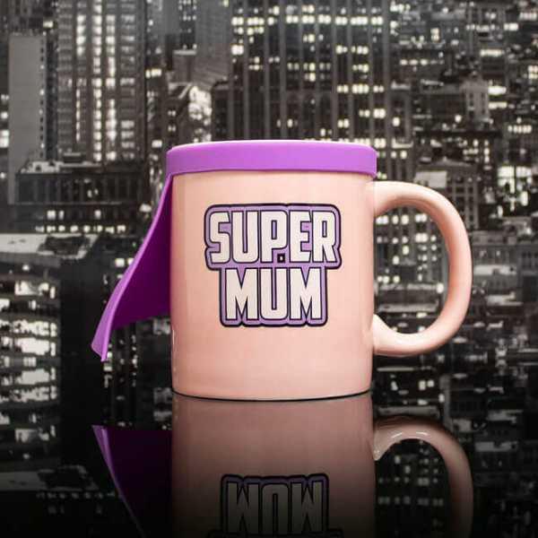Tasse mit Super Mum Aufdruck