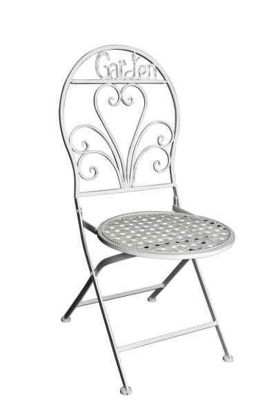 Gartenstühle aus Metall 2er-Set