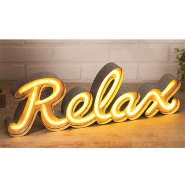 LED Leuchte mit Schriftzug Relax