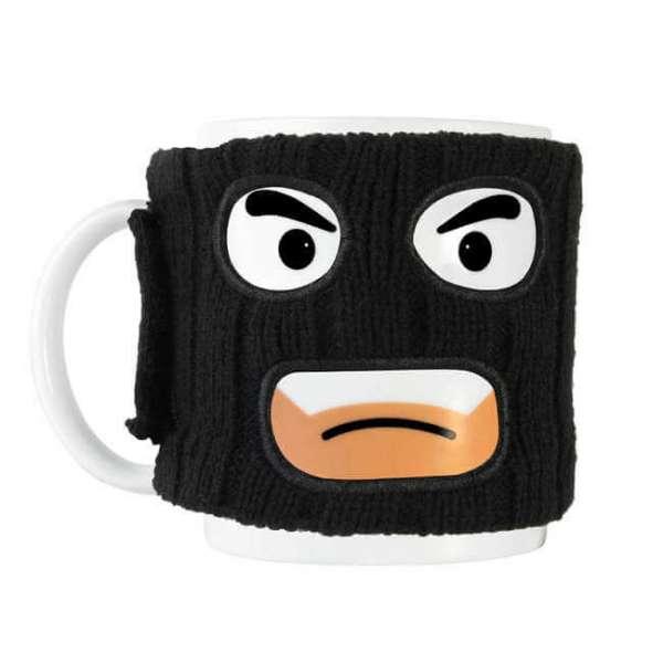 Tasse mugga mit Sturmhaube in schwarz