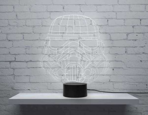 Tischlampe Led Stormtrooper in weiss